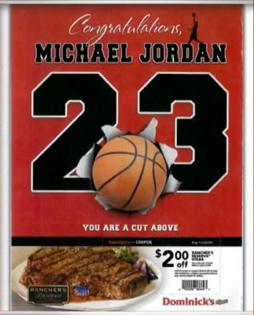 Michael Jordan Dominicks Ad